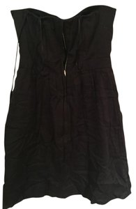 J.Crew short dress Black Strapless Cotton on Tradesy