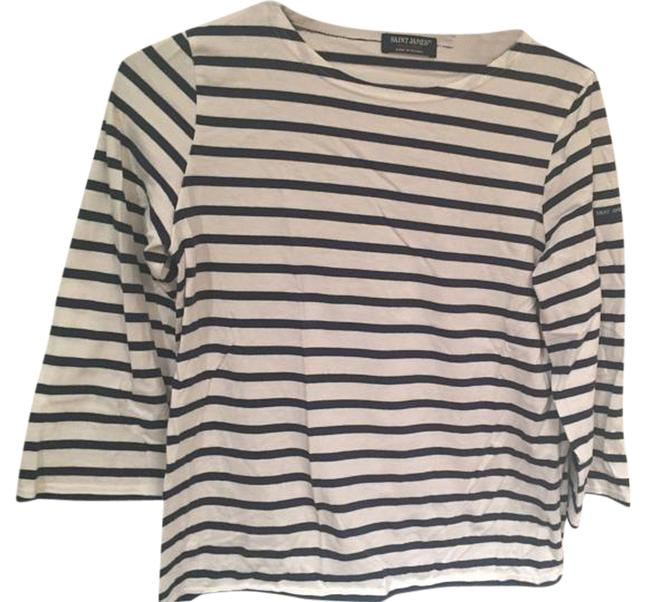 Item - Navy/White For J.crew Slouchy T-shirt Tee Shirt Size 4 (S)