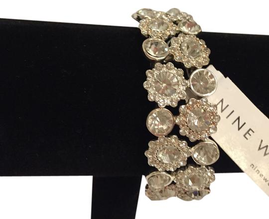 Nine West Nine West SPARKLING Diamond and Silver Elastic Bracelet Fashion Jewelry Faux diamonds