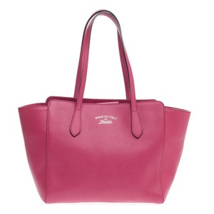 Gucci Leather Tote in Pink