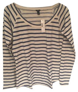 J.Crew Striped T Shirt blue and white