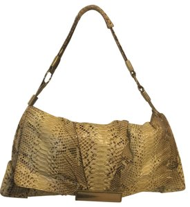 R & Y Augousti Genuine Snakeskin Shoulder Bag
