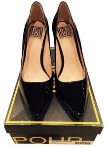 Pour La Victoire Leather Pump Black Patent Pumps
