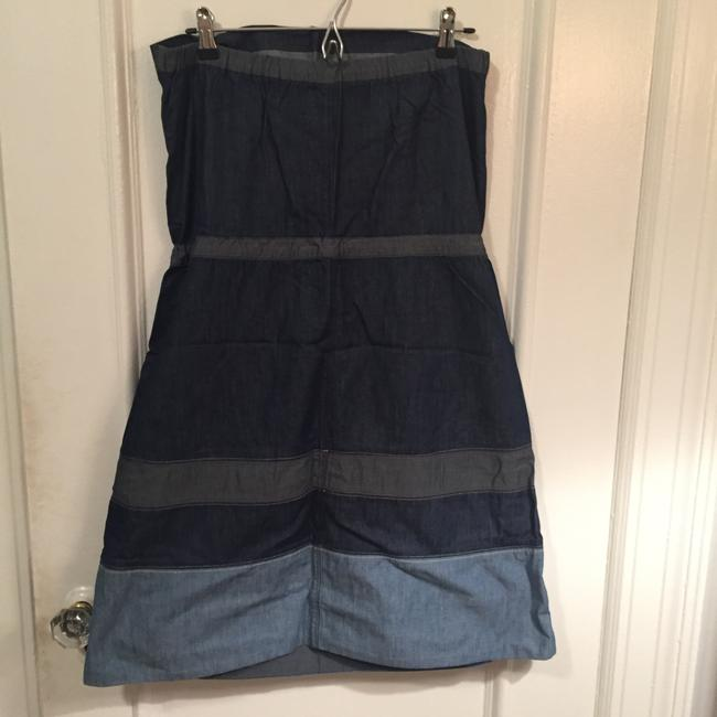 Diesel short dress Blue Chambray Denim Cotton Strapless on Tradesy Image 1