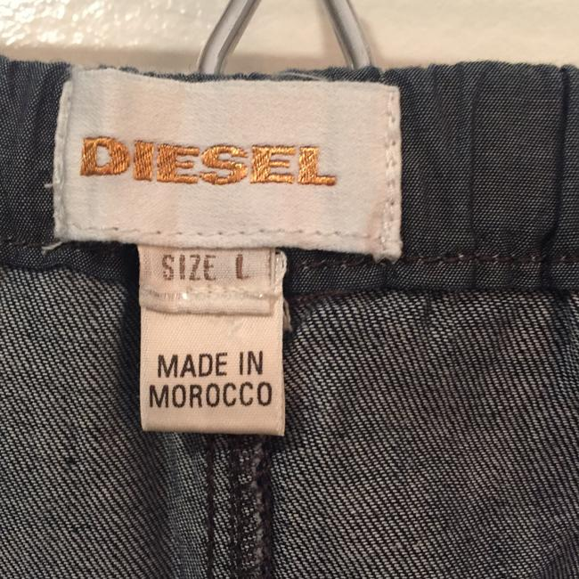 Diesel short dress Blue Chambray Denim Cotton Strapless on Tradesy Image 2