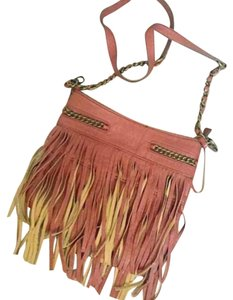 UC21 Faux Leather Fringe Chain Chain Cross Body Bag