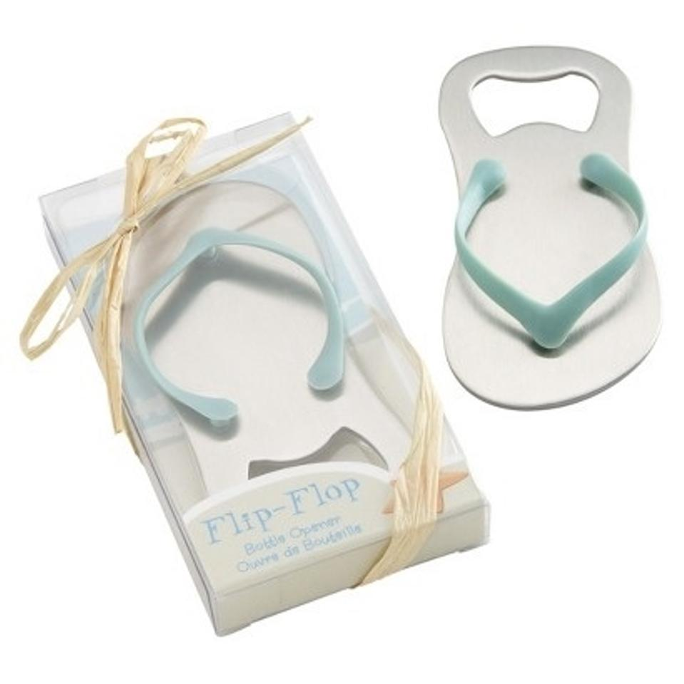 Silver & Turquoise Bottle Opener - Flip Flop Shape (14 Available ...