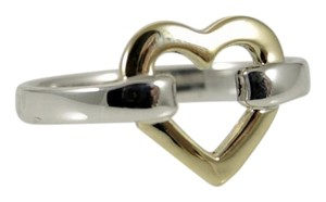 Tiffany & Co. Tiffany & Co. Sterling Silver 18K Yellow Gold Open Heart Ring