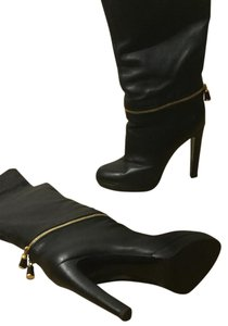 Sergio Rossi Leather Thigh High black Boots