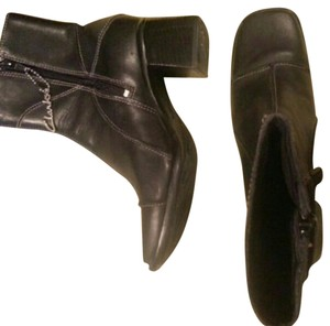 Clarks Leather Black Boots
