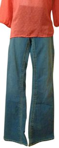 Fade to Blue Stretch Modern Classic Denim 5 Pocket Flare Leg Jeans-Medium Wash