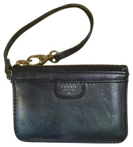 Fossil Leather Small ID Holder Coin Pouch Wristlet