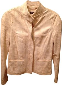 Tesori Ivory Leather Jacket