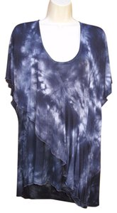 One World Tie Dye Plus-size Top Blue
