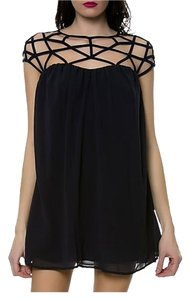 Keepsake the Label Edgy Chiffon Mini Dress