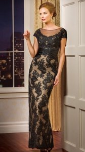 Jasmine Bridal Black/Navy J178069 Dress