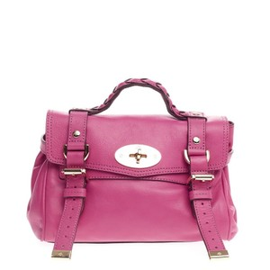 Mulberry Buffalo Satchel in Pink