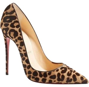 Christian Louboutin Stiletto Heels So Kate Size 38 Leopard So Kate Tan/Dark Brown Pumps