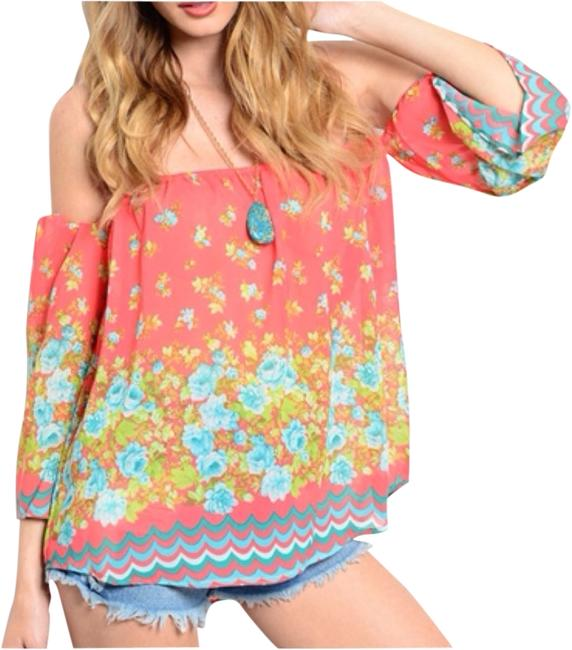 Preload https://item1.tradesy.com/images/peach-blue-blouse-size-6-s-1980800-0-0.jpg?width=400&height=650