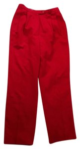 Bill Blass Wool Vintage Trouser Pants Red
