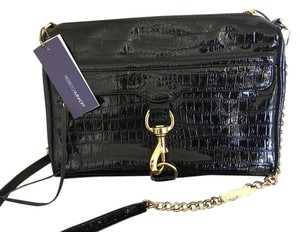 Rebecca Minkoff Croc Leather Shiny Cross Body Bag