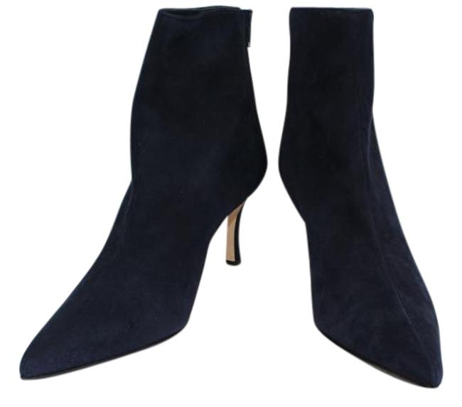Item - Navy Suede Lace Boots/Booties Size US 10.5 Narrow (Aa, N)