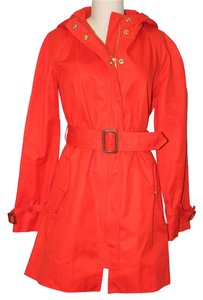 J.Crew Rain Coat Coat Modern Red Jacket