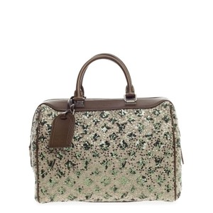 Louis Vuitton Satchel in Tan and Green