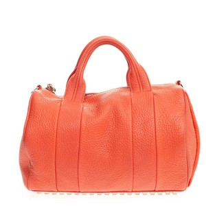 Alexander Wang Leather Satchel in Orange
