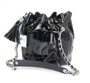 Moschino Fall Winter Patent Cross Body Bag