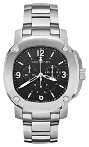 Burberry NWT The Britain Steel Mens Chronograph watch BBY1102( $1695+tax)