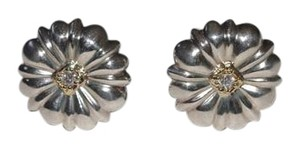 SLANE Slane SS & 18Y Diamond Flower Stud Earrings