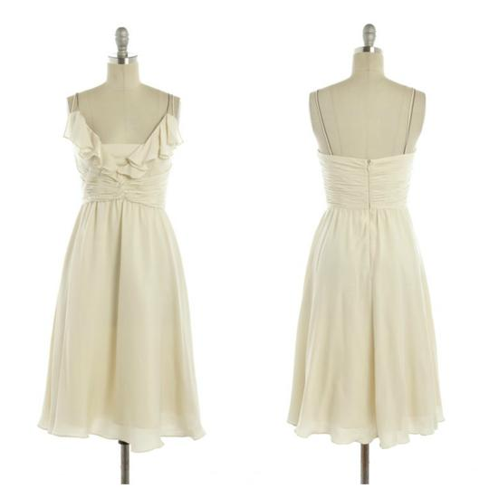 BHLDN Ivory Silk Spandex; Acetate Lining. Couplet Vintage Wedding Dress Size 6 (S)