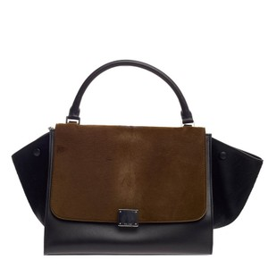 Céline Ponyhair Tote in Brown and Black