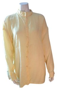 Eileen Fisher Linen Top Yellow