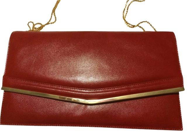 Item - Find Red Leather Clutch