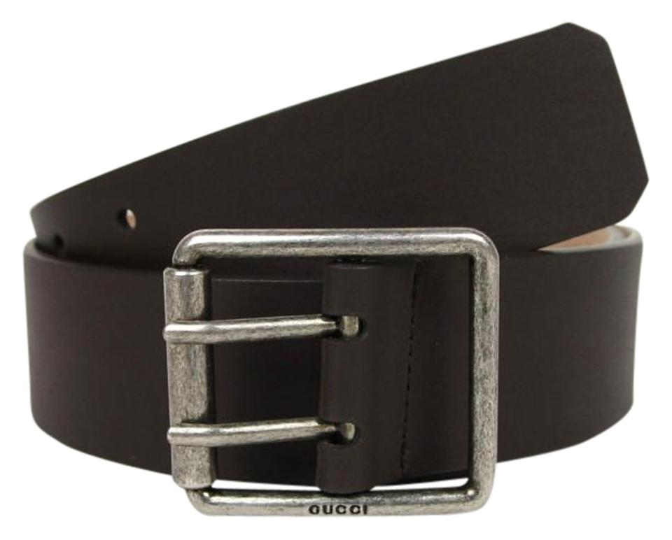 34f6b287b92 Gucci New Leather Belt w Double Prong Square Buckle 80 32 387026 2140 Image  ...