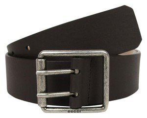 Gucci New Leather Belt w/Double Prong Square Buckle 80/32 387026 2140