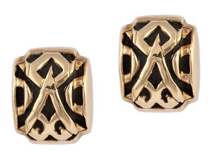 John Hardy Gold 18k and Sterling Silver Two Toned Dayak Earrings