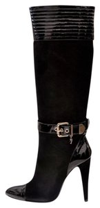 Versace Suede Leather Boot Black Boots