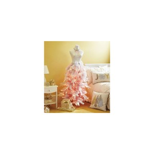 Dress Form Christmas Tree in Pretty pink