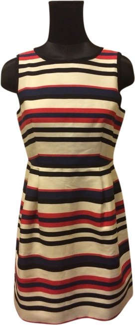 J.Crew short dress White Red Blue on Tradesy