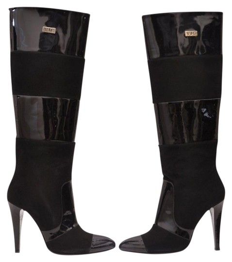 Preload https://item5.tradesy.com/images/versace-black-new-suede-and-patent-leather-bootsbooties-size-us-9-19808374-0-1.jpg?width=440&height=440