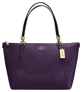 Coach F35808 Ava Tote in PURPLE AUBERGINE