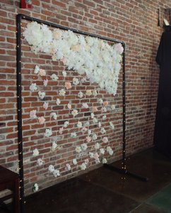 6' W X 7' T - Silk Floral Waterfall Backdrop
