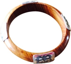 Silpada Silpada Wood Bangle Bracelet With Sterling Silver Accents