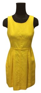 J.Crew short dress Yellow Cocktail Going Out Wedding Dvf Theory Helmut Lang Linen Sleeveless on Tradesy
