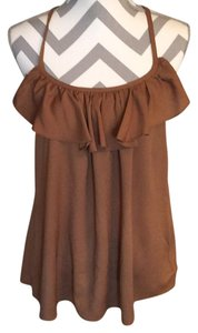 Francesca's Top Kaki/brown