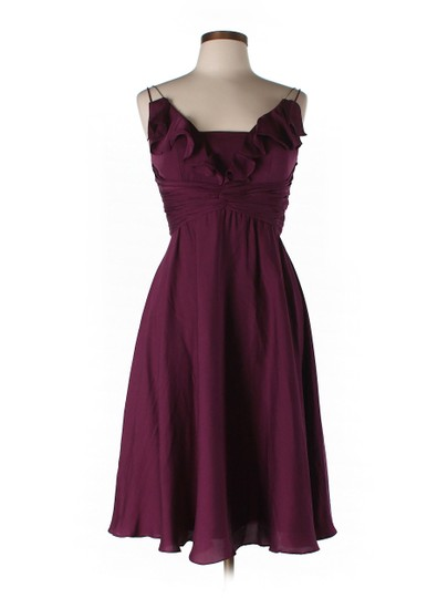 BHLDN Berry Silk Spandex; Acetate Lining. Couplet Vintage Bridesmaid/Mob Dress Size 0 (XS)