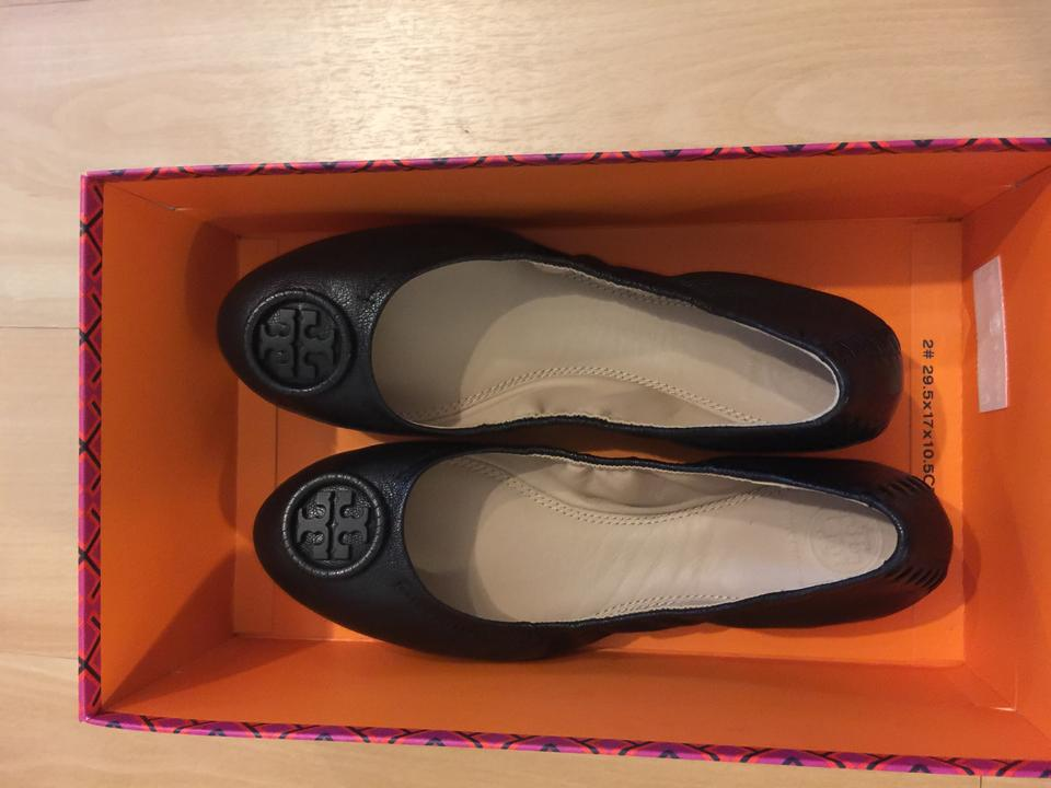 7265a8affc861 Tory Burch Allie Ballet Nordstrom Exclusive Black Flats Image 8. 123456789